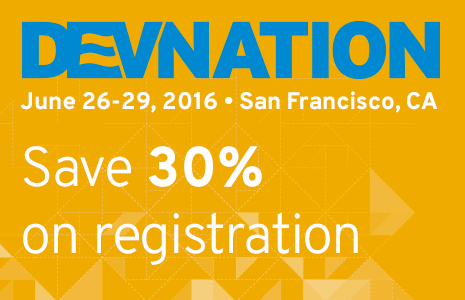Get 30% off registration for DevNation