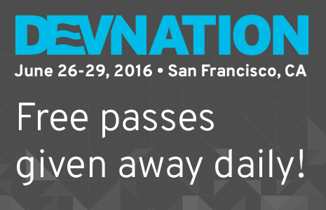 Register for Red Hat Developers and automatically be entered to win a free pass to DevNation