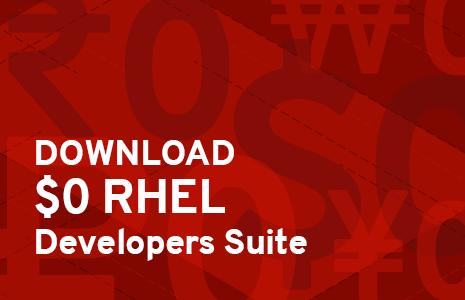 New $0 RHEL Developer Subscription