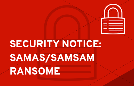 SAMAS/SamSam Ransomeware updates