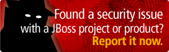 Find a security issue with a JBoss Project or Product? Report it now