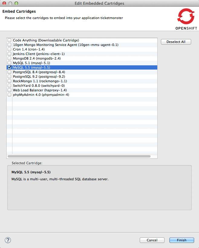 ticket monster tutorial gfx add mysql embedded cartridge 4
