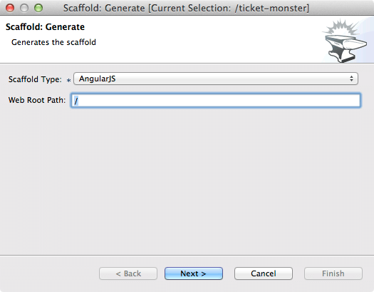 ticket monster tutorial gfx forge scaffold generate 4