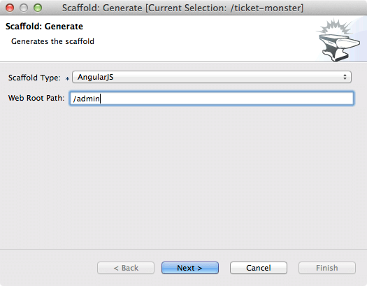 ticket monster tutorial gfx forge scaffold generate input webroot 4