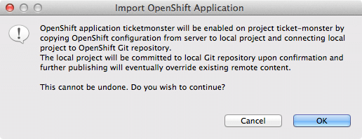 ticket monster tutorial gfx import openShift application prompt 4