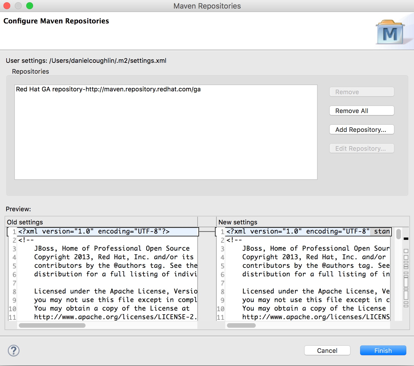 Configure Maven Repository