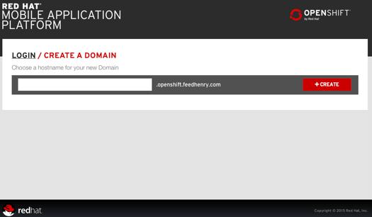 Create a domain