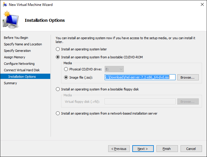 Screenshot Virtual CD/DVD Settings
