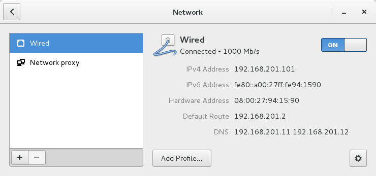 Screenshot alternate network