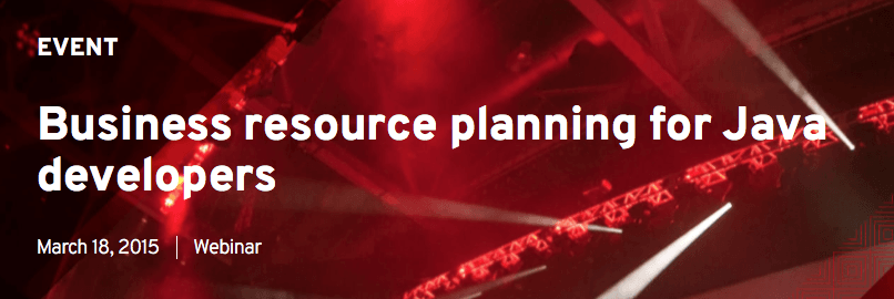 Business resource planning for Java developers