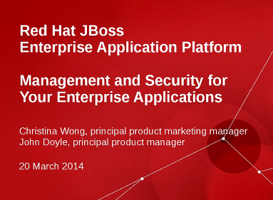 Use Management and Security for your Enterprise Applications